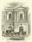 Entrance to the Old Opera House, 1800