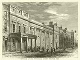 Exterior of the Tottenham Street Theatre, 1830