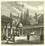 """Interior of the court-yard of Old """"Tattersall's"""""""