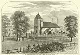 St Pancras Church in 1820, from an original sketch