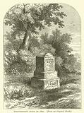 Whittington's Stone in 1820, from an original sketch