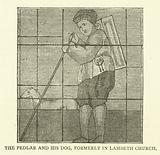 The Pedlar and his dog, formerly in Lambeth Church