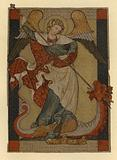 St Michael the Archangel defeating Satan depicted as a dragon
