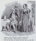 German cartoon on the Democratic Women's Association, 1848