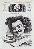 Self-portrait of French caricaturist Andre Gill