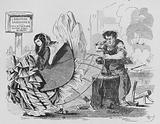 Cartoon on the fashion for crinoline