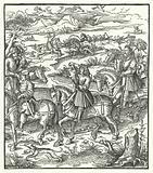 Archduke Maximilian of Austria hunting herons
