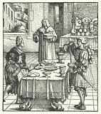 Archduke Maximilian of Austria learning the culinary arts