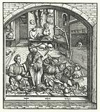 Archduke Maximilian of Austria visiting an armourer