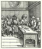 Council of Flemish peasants rebelling against the rule of Archduke Maximilian of Austria, 1484