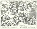 Mass executions carried out by the Spanish at Haarlem, Netherlands, 1573