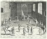 Fencing hall at the University of Leiden