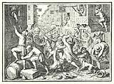 Plundering of the Judengasse, the Jewish ghetto of Frankfurt, in the Fettmilch Rising, 1614