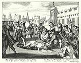 Execution of James Scott, 1st Duke of Monmouth, in London, 1685