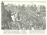 Coronation procession of the Holy Roman Emperor Ferdinand II, Frankfurt, 1619