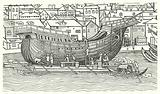 Building of a large seagoing ship at the end of the 15th century