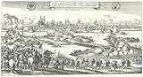 Count Tilly laying siege to Magdeburg, 1631