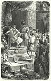 King David receiving emissaries from King Hiram of Tyre