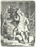 Heracles bringing Cerberus to King Eurystheus