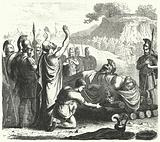 Funeral ceremony after the Battle of Coronea, 394 BC