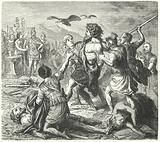 Capture of Tetobod, King of the Teutones, by the Romans after the Battle of Aquae Sextiae, 102 BC