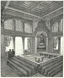 Triclinium, formal dining room in a Roman building