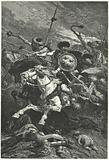 Huns charging at the Battle of Chalons, 451