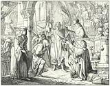 Bernard of Clairvaux preaching the Second Crusade in Speyer, Germany, 1146