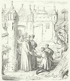 Venetian merchants Niccolo and Maffeo Polo leaving Constantinople for the east, 1259