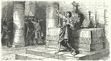 Hubert de Burgh, 1st Earl of Kent, arrested at the altar by his enemies, 1232