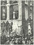 Execution of Enguerrand de Marigny, minister of Philip IV of France, at the Gibbet of Montfaucon, 1315