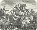 Death of the Ottoman Sultan Murad I at the Battle of Kosovo, 1389