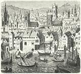 The Steelyard, trading base of the Hanseatic League in London, 17th Century