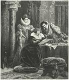Maria de' Medici in consultation with Concino Concini and Leonora Dori