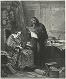 Cardinal Richelieu and his confidant and agent Pere Joseph