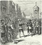 John Lambert preventing the Rump Parliament from sitting, 1659