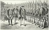 The Potsdamer Riesengarde, infantry regiment of taller than average soldiers in the army of Frederick William I of …