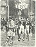 Napoleon receiving Cardinal Ercole Consalvi at the Tuileries Palace, Paris, 1801