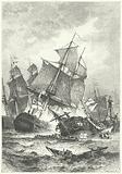 Admiral Villeneuve's defeat at the Battle of Trafalgar, 1805