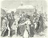 Walkout by students of Gottingen University, Germany, 1831
