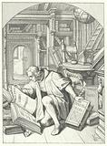 Martin Luther discovers a Latin Bible in the library at Erfurt University