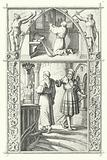 Martin Luther in prayer as he prepares for the Diet of Worms (top). Georg von Frundsberg gives encouragement to Martin Luther (bottom)