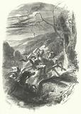 Death of the Gaulish chief Indutiomarus fighting the Romans, 53 BC