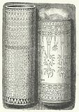 Bamboo canes from Sumatra decorated with Rejang script