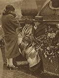 Flower seller in Piccadilly Circus