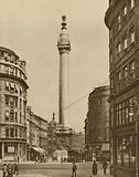 Sir Christopher Wren's Monument commemorating the outbreak of the Great Fire of London
