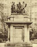 Bronze replica of Auguste Rodin's sculpture The Burghers of Calais, in Victoria Tower Gardens, Westminster
