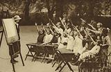 Open air class for girls in Lincoln's Inn Fields