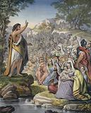 John preaching in the wilderness