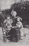 Marie Curie and her two daughters, Eve and Irene, in 1908